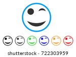 wink smile rounded icon. style...   Shutterstock .eps vector #722303959