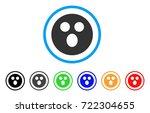 surprized smiley icon. vector... | Shutterstock .eps vector #722304655