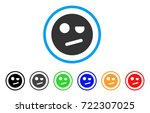 negation smiley icon. vector...   Shutterstock .eps vector #722307025
