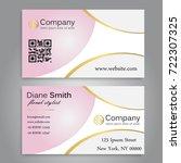 business card template vector   Shutterstock .eps vector #722307325