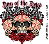 holy death  day of the dead ... | Shutterstock .eps vector #722317435