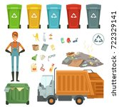 plastic containers for... | Shutterstock .eps vector #722329141