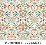 geometric ethnic tribal pattern.... | Shutterstock .eps vector #722332159
