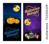 all hallows night holiday... | Shutterstock .eps vector #722334109