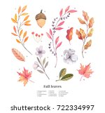 hand drawn watercolor... | Shutterstock . vector #722334997