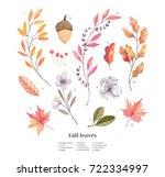 hand drawn watercolor... | Shutterstock . vector #722334997