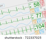 patient's vital signs on light... | Shutterstock . vector #722337025