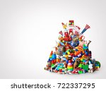 huge pile of different and... | Shutterstock . vector #722337295