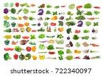 vegetable isolated on white... | Shutterstock . vector #722340097