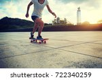woman practicing with... | Shutterstock . vector #722340259
