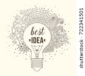 light bulb made of handdrawn... | Shutterstock .eps vector #722341501