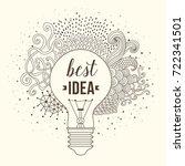light bulb made of handdrawn... | Shutterstock .eps vector #722341501