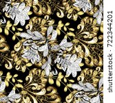 elegant classic pattern.... | Shutterstock . vector #722344201