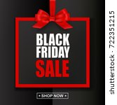 black friday sale text with red ... | Shutterstock .eps vector #722351215