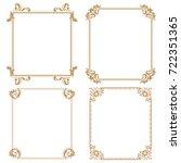decorative line art frames for... | Shutterstock .eps vector #722351365