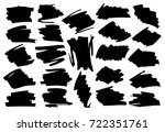 black highlight stripes ... | Shutterstock .eps vector #722351761