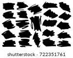 black highlight stripes ... | Shutterstock .eps vector #722351761