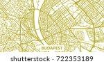 detailed vector map of budapest ...   Shutterstock .eps vector #722353189