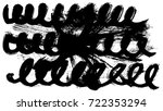 brush stroke and texture. smear ... | Shutterstock . vector #722353294