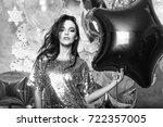pretty woman or cute sexy girl... | Shutterstock . vector #722357005