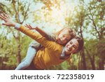mother and daughter outdoors in ... | Shutterstock . vector #722358019
