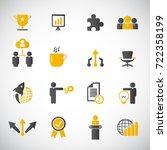 business icon set | Shutterstock .eps vector #722358199