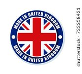 made in united kingdom of great ... | Shutterstock .eps vector #722358421