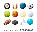 set of modern sports equipment  ... | Shutterstock .eps vector #722358469
