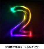 neon numbers | Shutterstock .eps vector #72235999