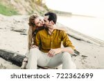a moment before a kiss. young... | Shutterstock . vector #722362699