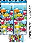 winter traffic jam picture... | Shutterstock . vector #722366524