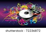 cd player vector color...   Shutterstock .eps vector #72236872
