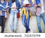 young students on campus | Shutterstock . vector #722373799