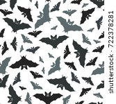 bat seamless pattern. seamless... | Shutterstock .eps vector #722378281