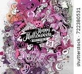 cartoon cute doodles hand drawn ... | Shutterstock .eps vector #722380531