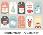 christmas tags cute collection. ...