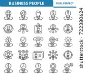 business people icons.... | Shutterstock .eps vector #722380624