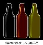 set of beer bottles   Shutterstock .eps vector #72238069