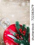 festive table setting for