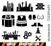 set of construction tools icons.... | Shutterstock .eps vector #722391655