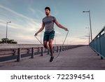 african american athlete man... | Shutterstock . vector #722394541