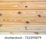 wood plank wall texture... | Shutterstock . vector #722395879