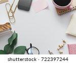 image of top view of feminine...   Shutterstock . vector #722397244