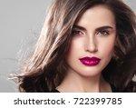 beauty woman face portrait.... | Shutterstock . vector #722399785