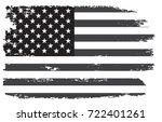 grunge usa flag.vintage black... | Shutterstock .eps vector #722401261