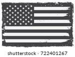 grunge usa flag.vintage black...   Shutterstock .eps vector #722401267