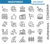 investment icons. professional  ... | Shutterstock .eps vector #722403949