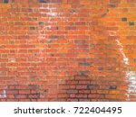 brick wall brown color of... | Shutterstock .eps vector #722404495
