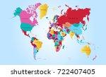 color world map | Shutterstock .eps vector #722407405