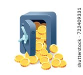 metal bank safe vector icon in... | Shutterstock .eps vector #722409331